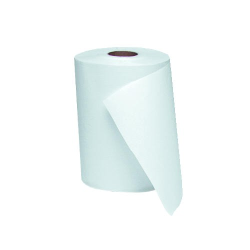 Windsoft Roll Towel 8W x 8 Diameter, 1-Ply, White