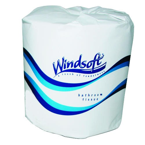 Windsoft Toliet Tissue, 1-Ply, White 1000