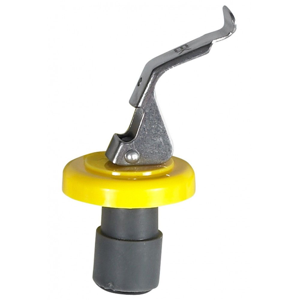 Wine Bottle Stopper, Yellow Collar