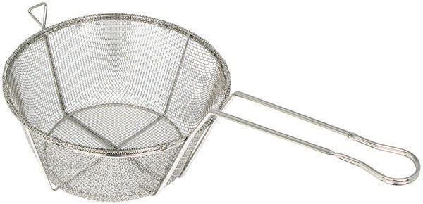 Winco FBRS-11 Round 6-Mesh Wire Fry Basket 10-1/2""