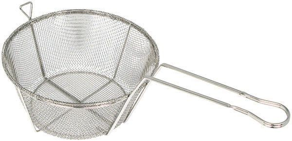 Winco FBRS-8 Round 6-Mesh Wire Fry Basket 8-1/2""