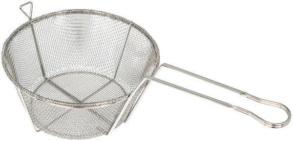 Winco FBRS-9 Round 6-Mesh Wire Fry Basket 9-1/2""