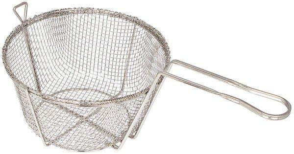 "Winco FBR-11 Round Mesh Wire Fry Basket 11-1/2"" Dia."