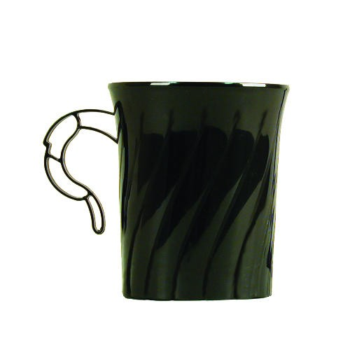 Wna Comet Black Classicware Hard Plastic 8 oz Coffee Mugs (Box of 192)