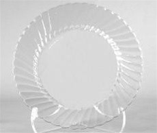 Wna Comet Hard Clear Plastic Plate 9