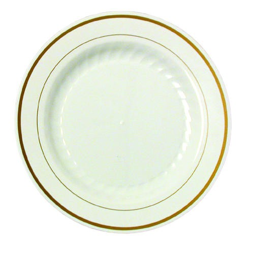 Wna Comet Masterpiece Hard Plastic Ivory and Gold 10 oz Bowls (Box of 150)