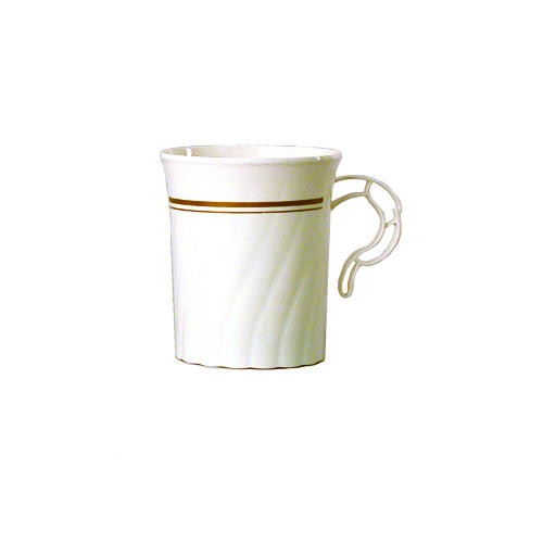 Wna Comet Masterpiece Ivory with Gold Print Coffee Mugs 8 oz. (Box of 192)
