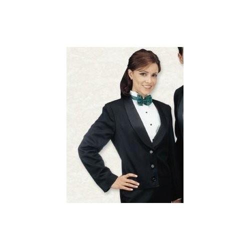 Henry Segal 7201 Women's Black Eton Jacket with Satin Shawl Lapel