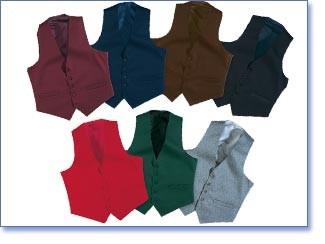 Henry Segal 3400 Women's Full Back Vest (Choice of Colors)