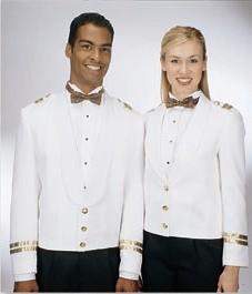Henry Segal 7215 Women's Gold-Cuffed Black Eton Jackets with Cloth Shawl Lapel