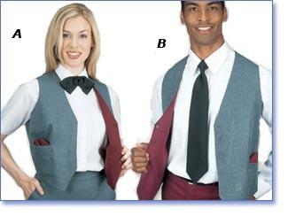 Henry Segal 3444 Women's Grey/Burgundy Reversible Full Back Vest