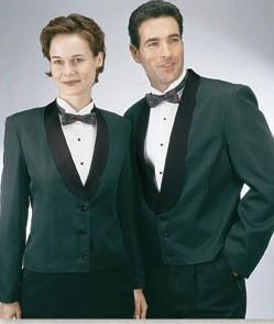 Henry Segal 7206 Women's Hunter Green Eton Jacket with Satin Shawl Lapel