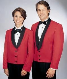 Henry Segal 7209 Women's Red Eton Jacket with Satin Shawl Lapel
