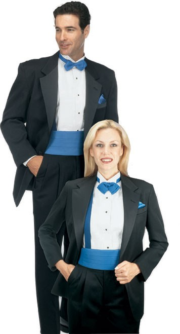 Women's Satin Notch Lapel Tuxedo Jackets
