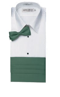 "Henry Segal 8911 Women's Short Sleeve Lay-Down Collar 1/4"" Pleat"