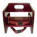 Wood Booster Seat, Mahogany