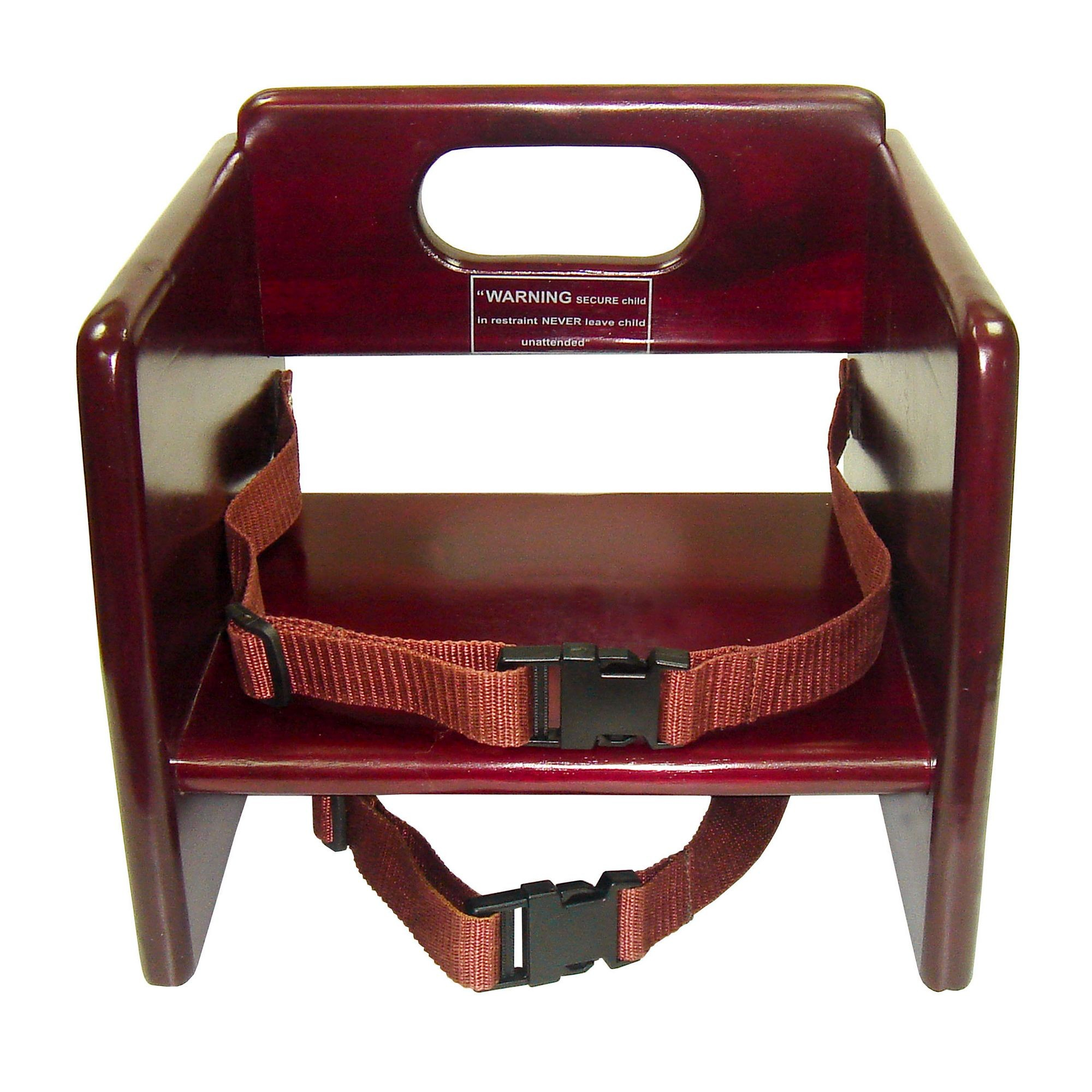 Winco CHB-703 Mahogany Wood Booster Seat