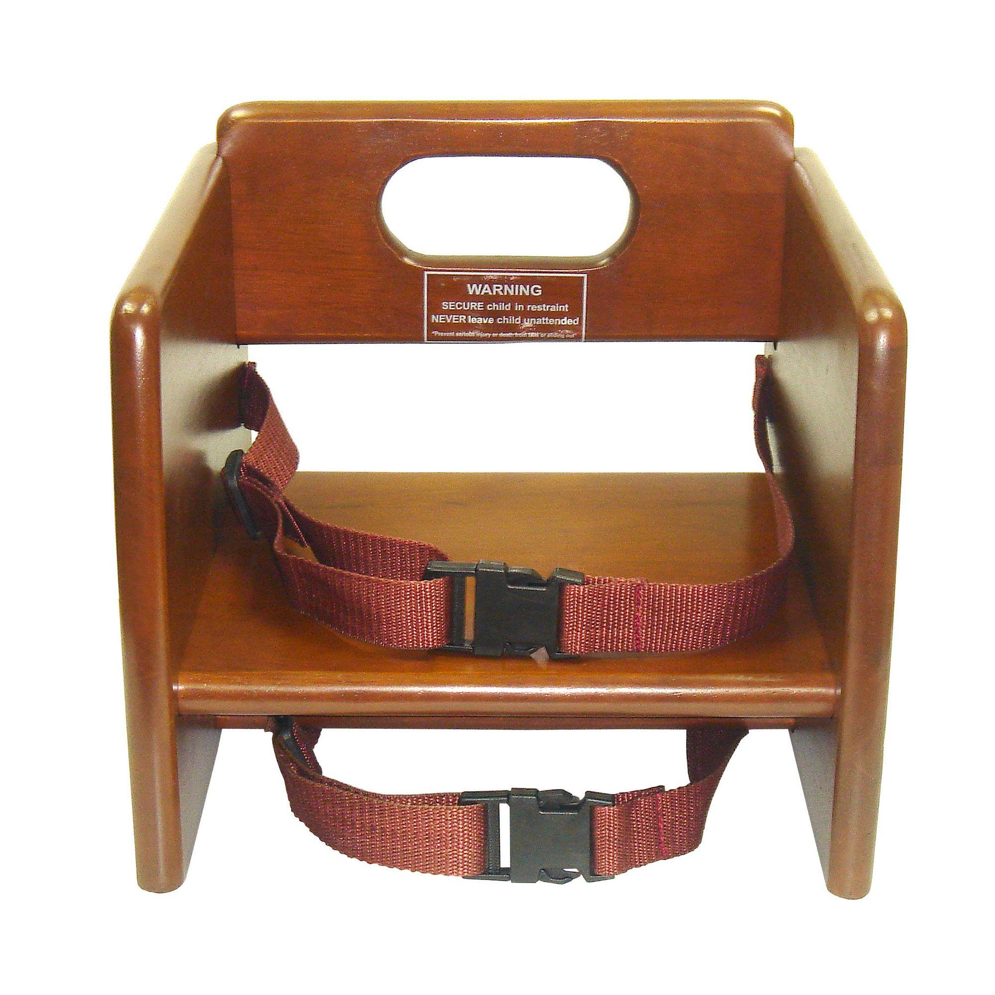 Winco CHB-704 Walnut Wood Booster Seat