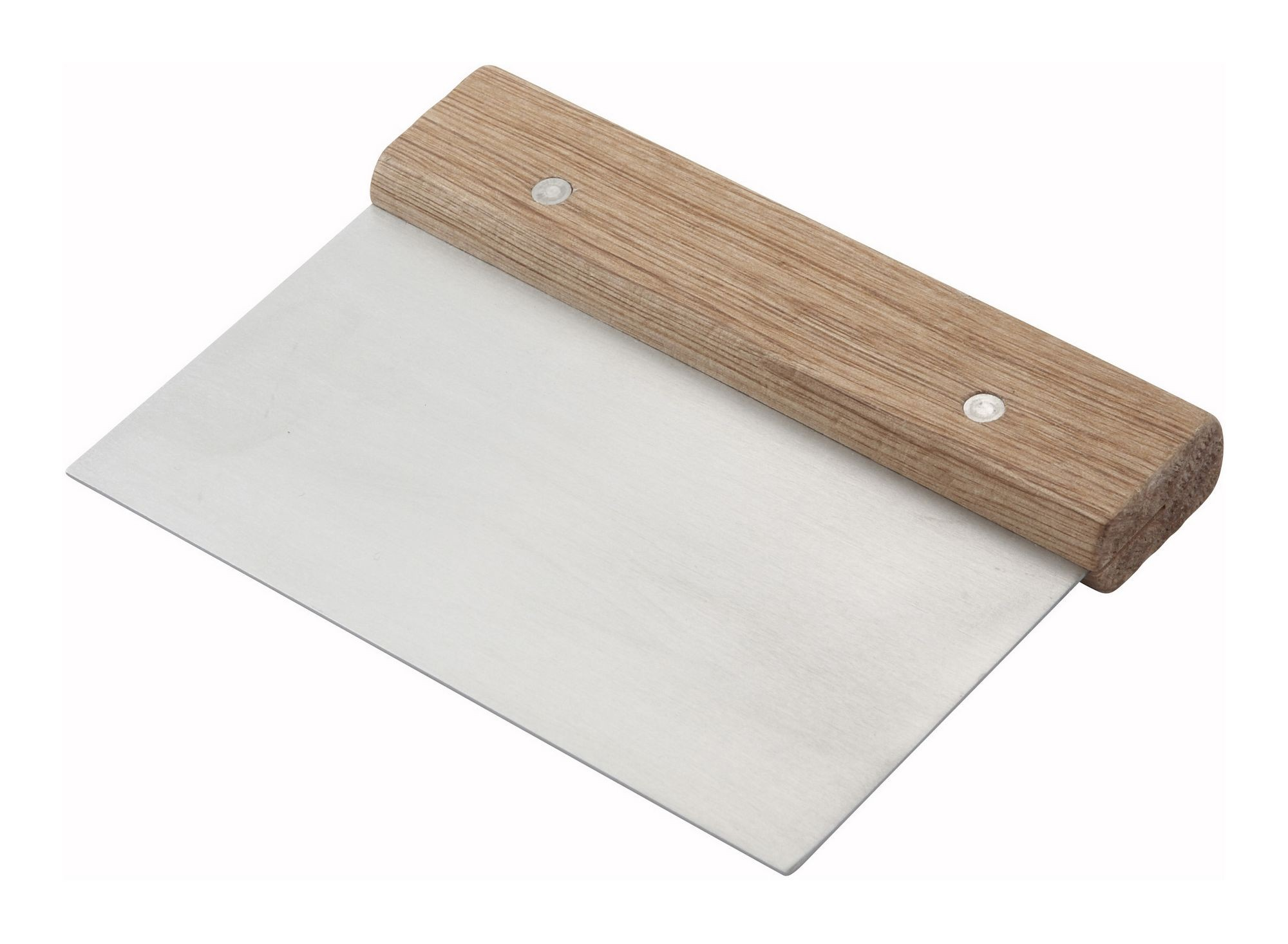 Stainless Steel Dough Scraper with Wood Handle