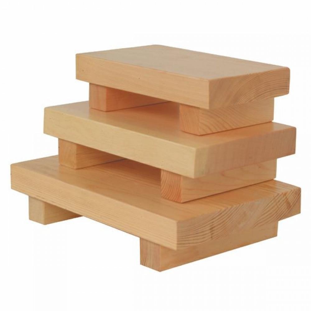 """Thunder Group WSPW003 Large Wood Sushi Plate 10-1/2"""" x 7"""""""
