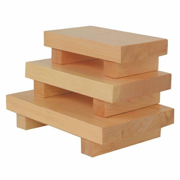 """Thunder Group WSPW002 Medium Wood Sushi Plate 9-1/2"""" x 6"""""""