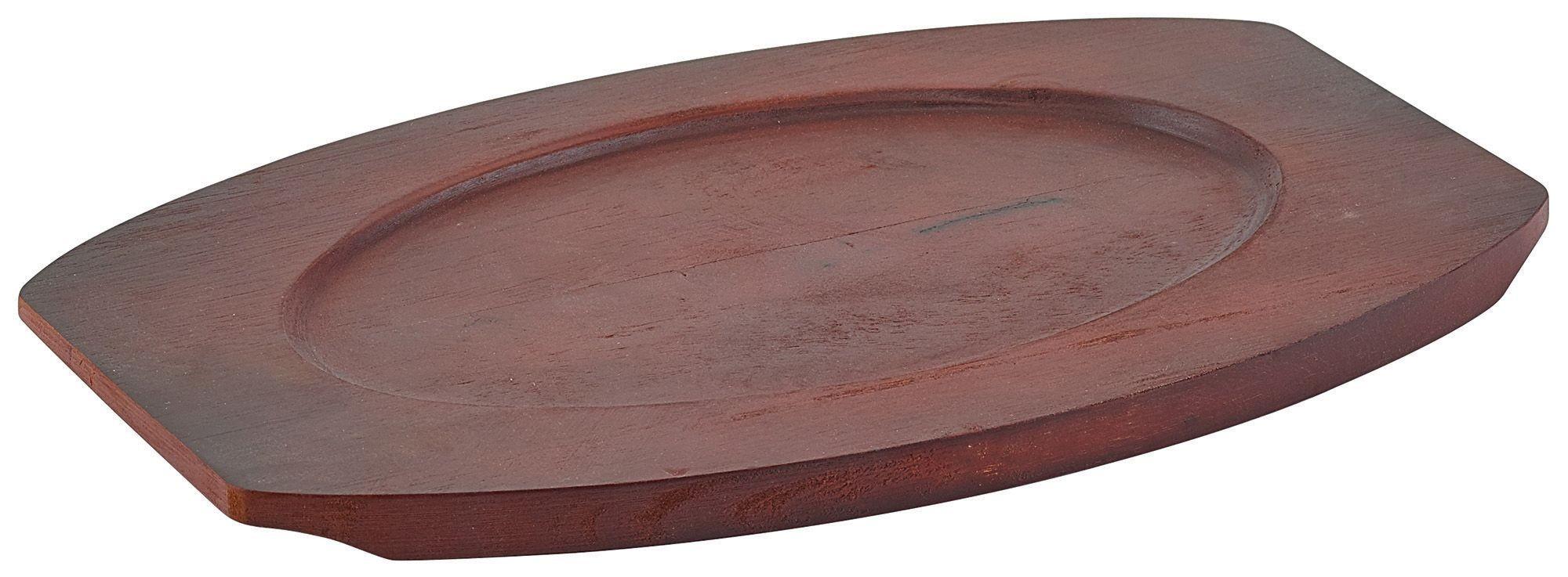 """Winco APL-12UL Wood Underliner for 12"""" Oval Sizzling Platter"""