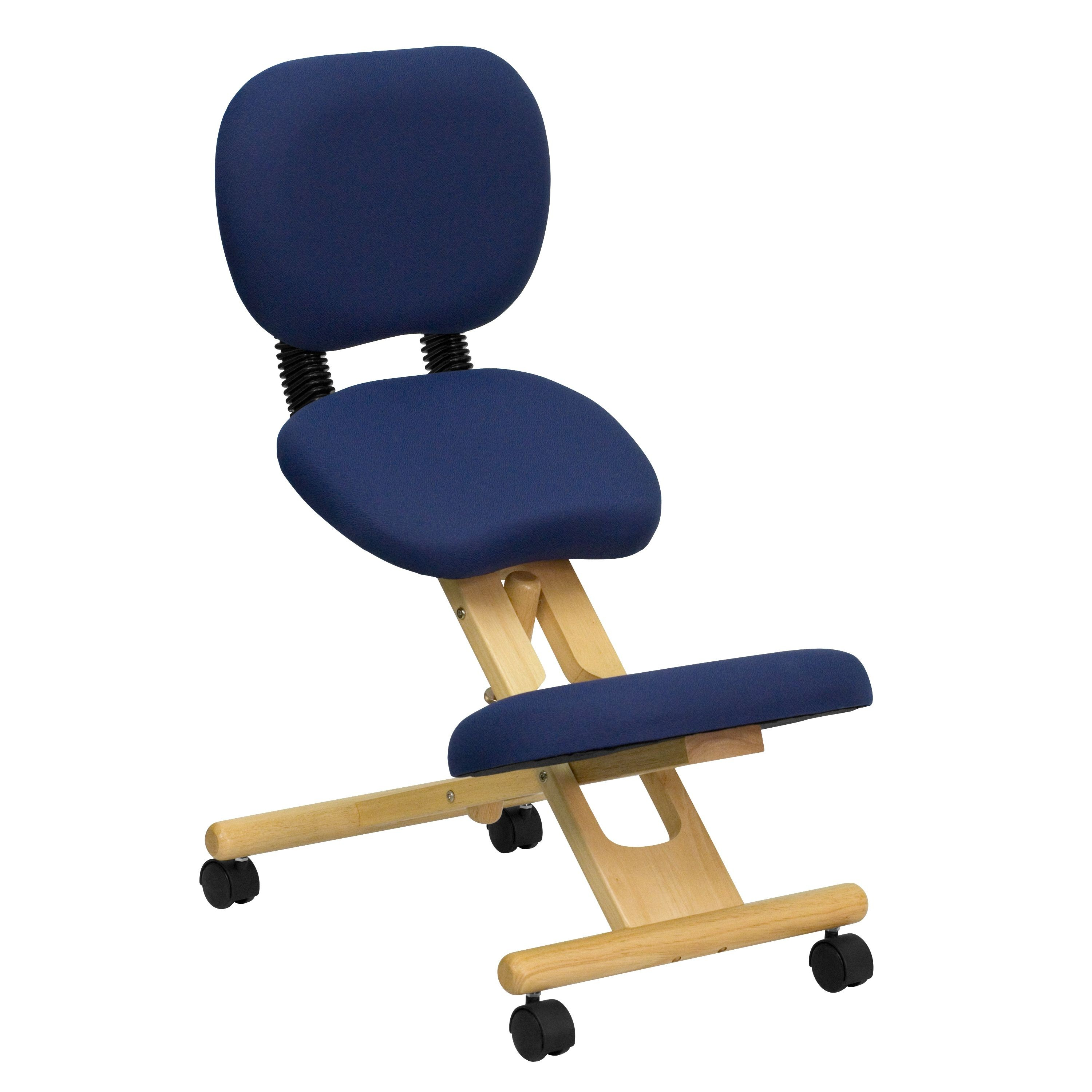 Flash Furniture WL-SB-310-GG Wooden Ergonomic Kneeling Posture Office Chair with Reclining Back