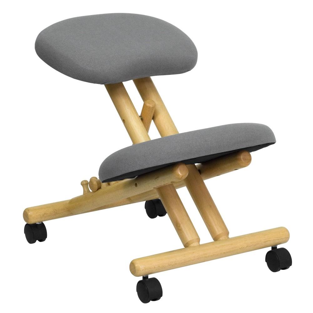 Wooden  Kneeling Posture Office Chair
