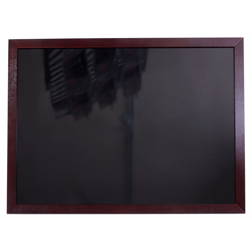 """Winco MBB-3 Marker Board with Mahogany Finish 34"""" x 32"""""""