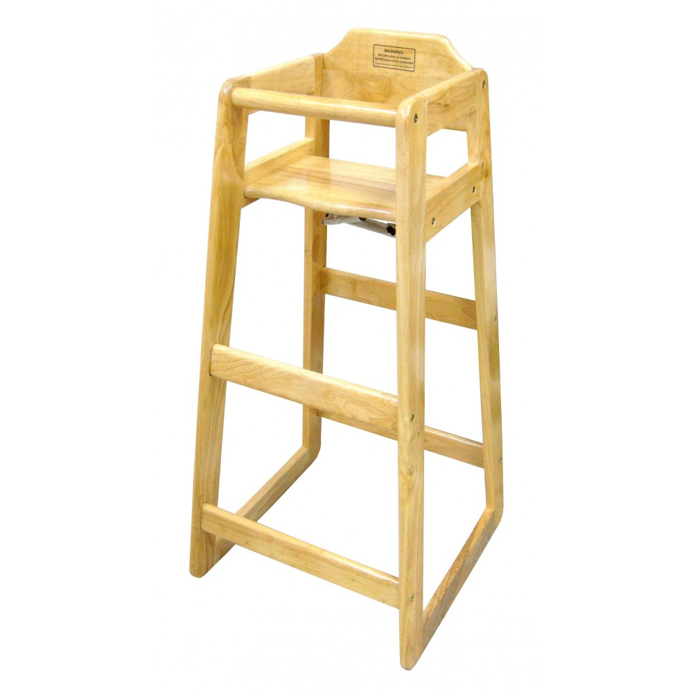 Winco CHH-601 Wooden Pub Height High Chair 41""