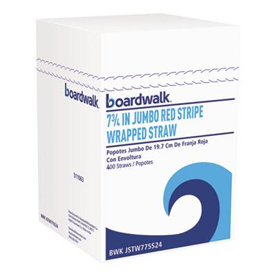 Wrapped Jumbo Straws, 7 3/4