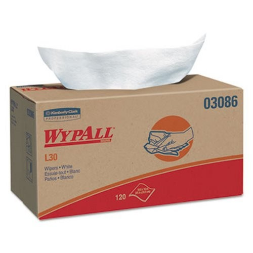 Wypall L30 Light Duty Wipers, Pop-Up Box, 10 Boxes/Carton