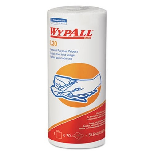 Wypall L30 Perforated Roll Wipers, Unscented, 24 Rolls/Carton