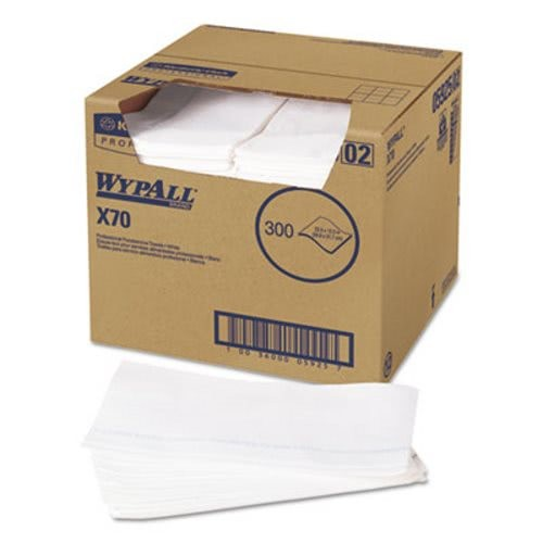 Wypall X70 Wipers, Kimfresh Antimicrobial, White, 300/Box