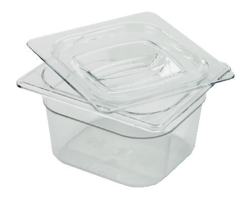 X-Tra Cold Food Pan, 1/6 Size, Clear