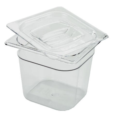 X-Tra Food Pan, 1/6 Size, Clear