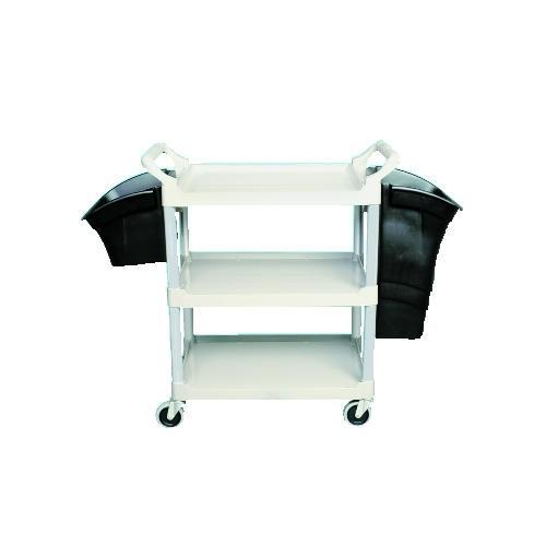 Xtra 3-Shelf Utility Cart, Open Sided, Black