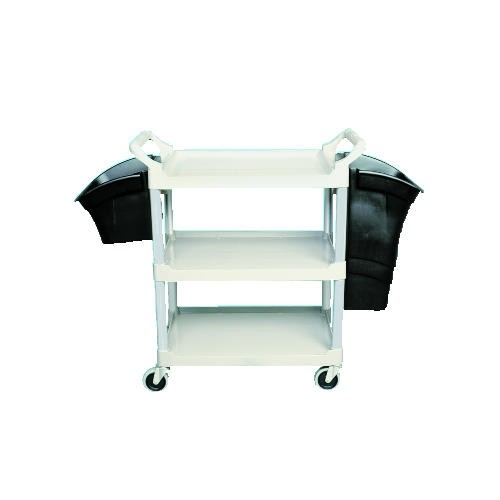 Xtra 3-Shelf Utility Cart, Open Sided, Cr�me