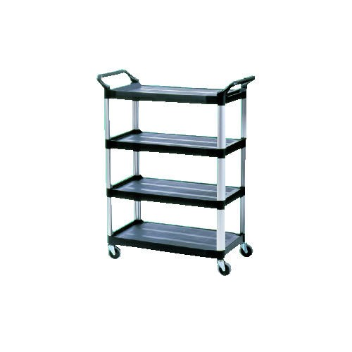 Xtra 4 Shelf Utility Cart, Black