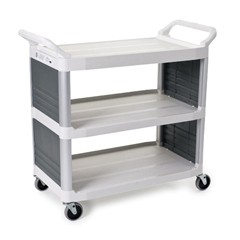 Xtra Utility Cart, 300-lb Cap., 2 Shelves, 20w x 40 5/8d x 37 4/5h, Off-White