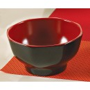 "Yanco CR-3006 Black Red Two Tone 4 5/8"" Bowl"