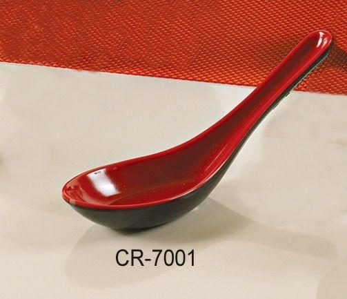 "Yanco CR-7001 Black Red Two Tone 5.5"" Soup Spoon"