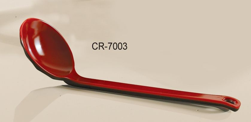 """Yanco CR-7003 Black Red Two Tone 8 1/4"""" Noodle Spoon"""