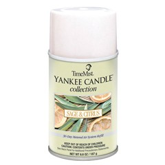 Yankee Candle Air Freshener Refill, Sage and Citrus, 6.6 oz Aerosol Can