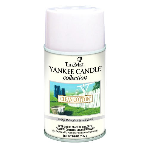Yankee Candle Metered Air Freshener, 6.6 Oz, Aerosol, Clean Cotton