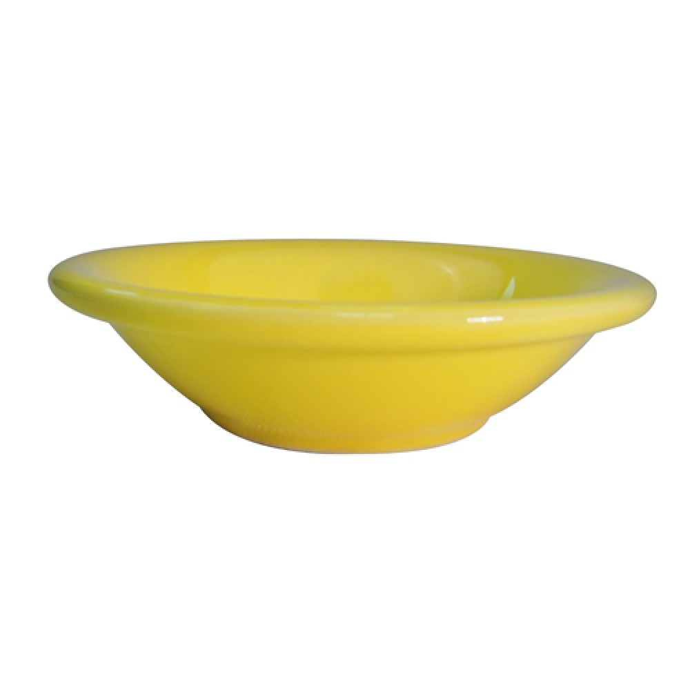 CAC China LV-11-Y Las Vegas Rolled Edge Yellow Fruit Bowl 4.75 oz.