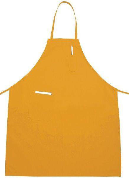 Winco BA-PYL Yellow Full Length Bib Apron with Pocket