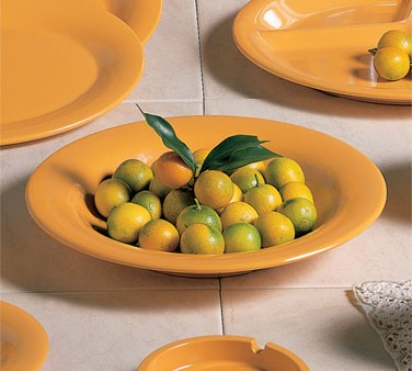 Thunder Group CR5809YW Yellow Melamine13 oz. Salad Bowl-9 1/4""