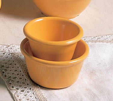 Thunder Group ML536YW Yellow Melamine 2.5 oz. Smooth Ramekin 2 7/8""