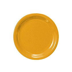 Thunder Group CR106YW Yellow Melamine Narrow Rim Round Plate 6-1/2""